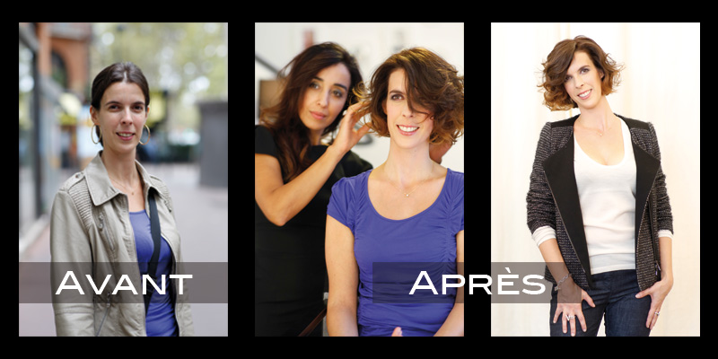 Relooking coiffure : Claire