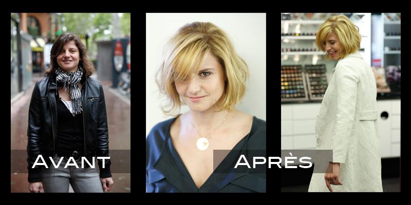 Relooking coiffure : Emma