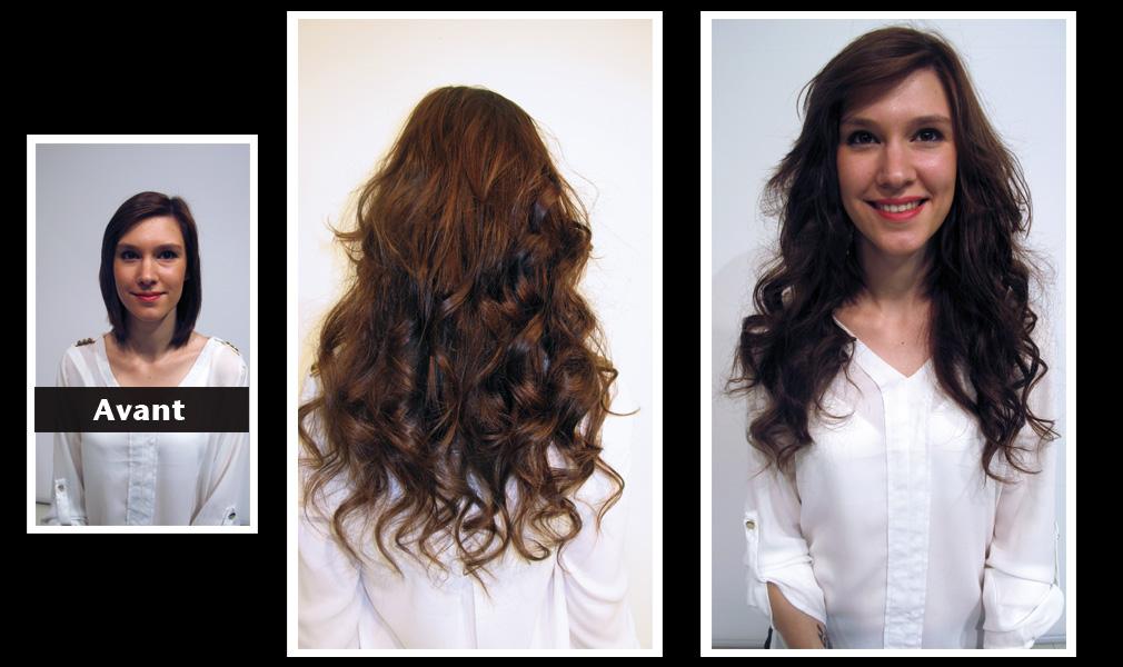 Tuto coiffure : gagner en longueur et en volume / Avant - Après - Shopping Jean Claude Aubry