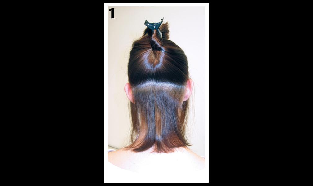 Tuto coiffure : gagner en longueur et en volume / Etape 1 - Shopping Jean Claude Aubry