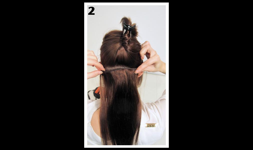 Tuto coiffure : gagner en longueur et en volume / Etape 2 - Shopping Jean Claude Aubry