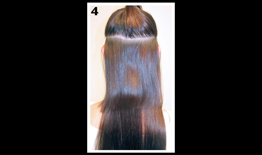 Tuto coiffure : gagner en longueur et en volume / Etape 4 - Shopping Jean Claude Aubry