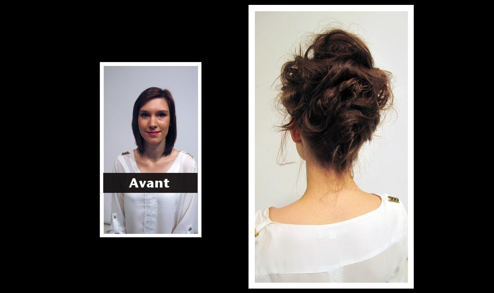 Tuto coiffure - Chignon en hauteur avec du volume / Avant - Après : Shopping Jean Claude Aubry