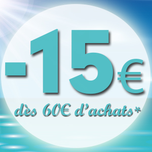 15€ offerts dès 60€ d'achats dans vos Shopping Jean Claude Aubry