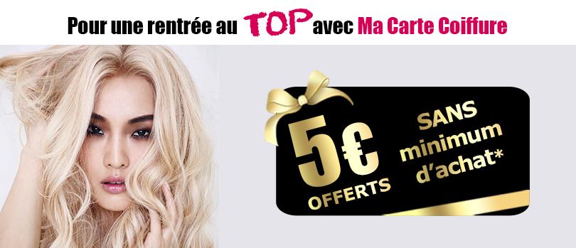 Une rentrée au TOP avec Ma Carte Coiffure dans les Shoppings Jean Claude Aubry : -20% dès 80€ d'achats