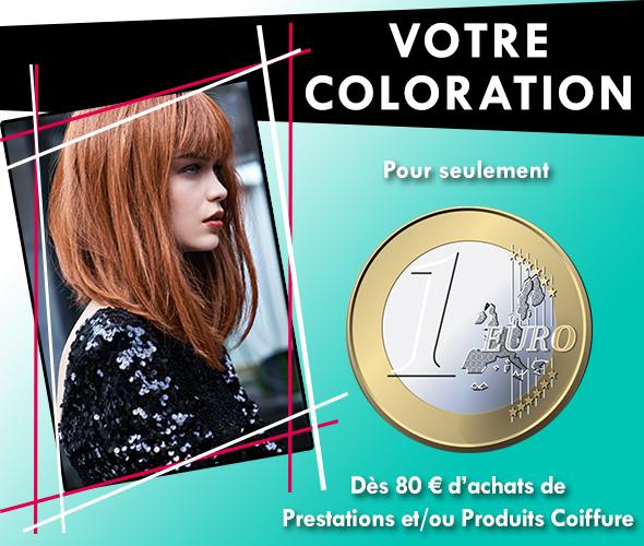 Découvrez notre offre du mois de novembre : votre coloration pour seulement 1€ !